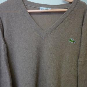 Lacoste Chemise V-Neck Sweater Size 6